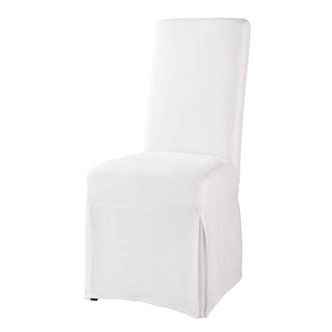 housse de chaise blanche housse de chaise blanche margaux maisons du monde
