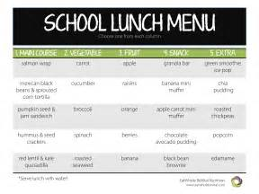 School Lunch Menu Ideas