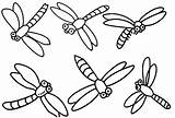 Dragonfly Coloring Printable Clipart Cartoon Pages Clip Library sketch template