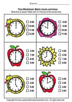 time images worksheets teaching time math