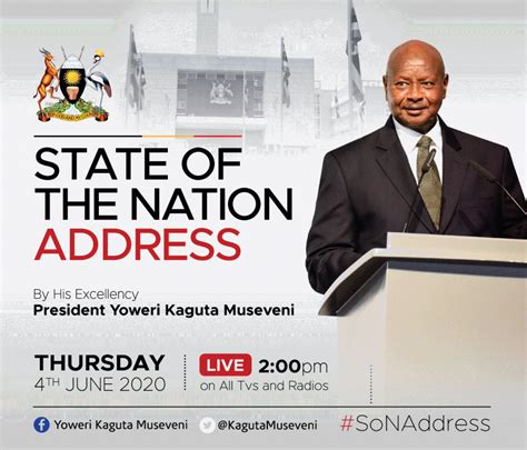 Previously the state of the nation address has left bitter sweet memories with opposition united party for national development members of parliament. PRESIDENT MUSEVENI TO DELIVER THE STATE OF THE NATION ...