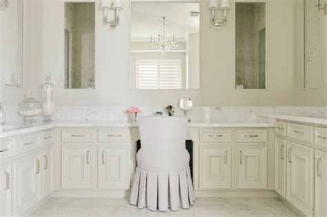 ivory master bathroom  robert abbey bling chandelier