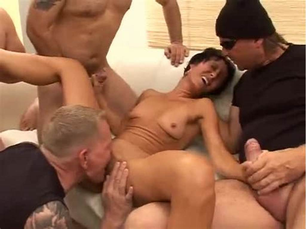 #Skinny #Milf #Excited #To #Be #In #Gangbang