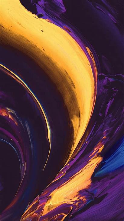 Purple Yellow Iphone Abstract Paint Vs33 Htc