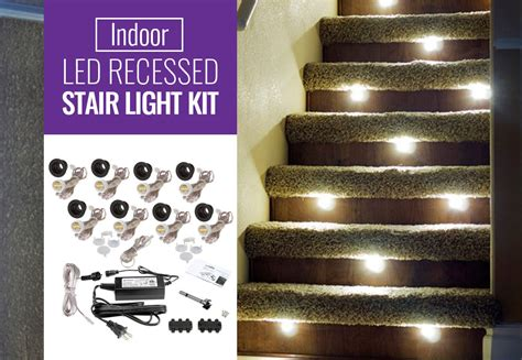 Indoor Stair Lights by Led Stair Lights Indoor Outdoor Recessed Leds By Dekor