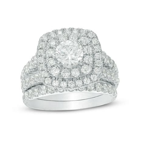 ct tw certified canadian diamond double cushion