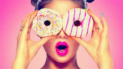Doughnut Wallpapers Desktop Doughnuts Background Woman Sugar