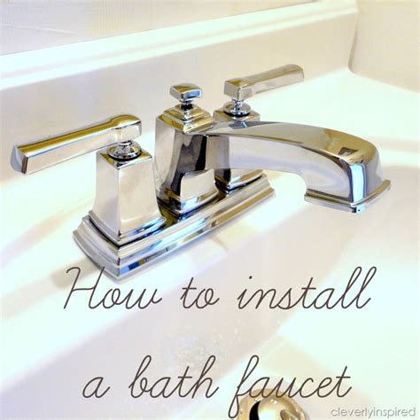 install  bathroom faucet   video cleverly inspired