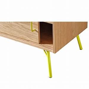 Meuble Tv Metal Bois : meuble tv design et pratique ashburn ~ Teatrodelosmanantiales.com Idées de Décoration