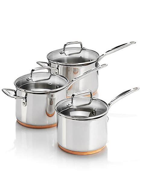 piece copper base saucepan set ms