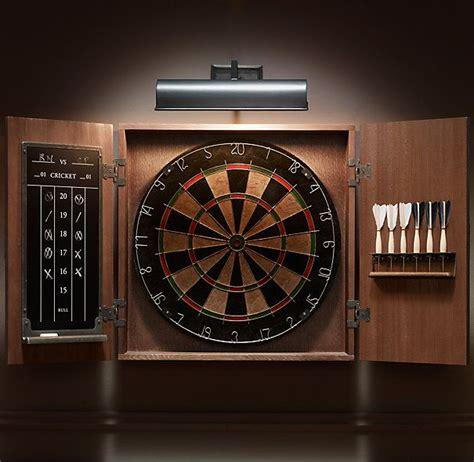 dart board cabinet  lights home decor