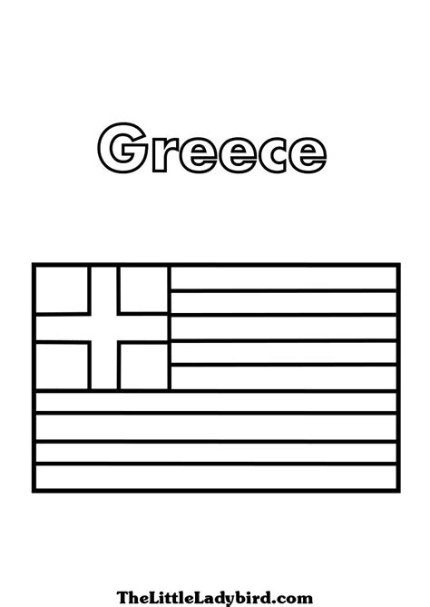 greek flag coloring page az coloring pages food