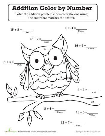 owl color  number owl moon school theme halloween