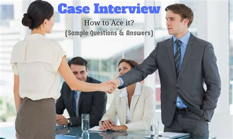 interview case case interview how to ace it sample questions answers