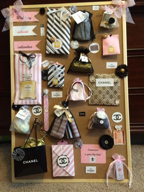 coco chanel themed wedding advent calendar filled