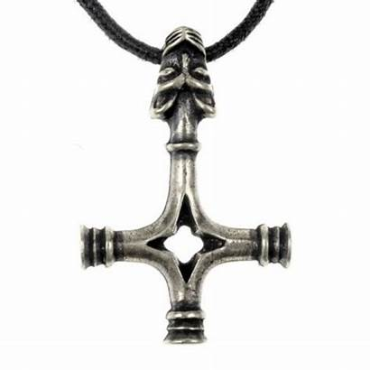 Hammer Wolf Cross Silvered Thor Thors