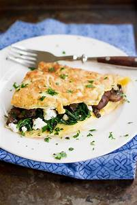 Red Kale And Cheese Omelette For Two Recipe — Dishmaps