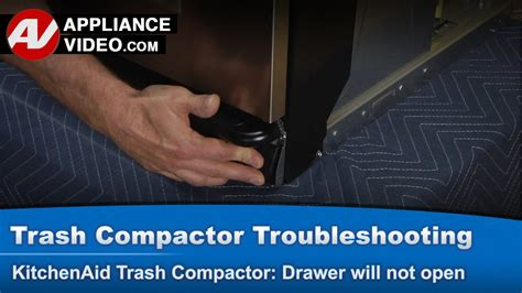 trash compactor drawer   open stuck  closed position youtube