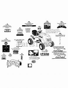 33 Cub Cadet Lt1050 Belt Diagram