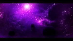 Purple Space Wallpaper - WallsKid