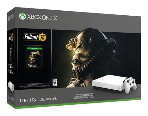 microsoft announces fallout 76 bundle with white xbox one x and white xbox elite