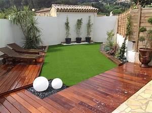 gazon synthetique pour jardin With amenagement jardin sans pelouse 14 poser du gazon synthetique