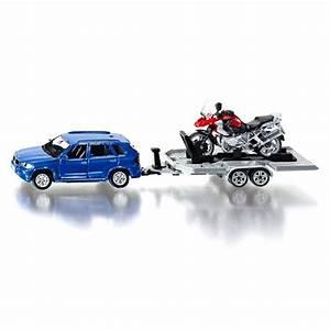 Jeux De Moto Et Voiture : mod le r duit en m tal voiture avec remorque et moto jeux et jouets siku avenue des jeux ~ Maxctalentgroup.com Avis de Voitures