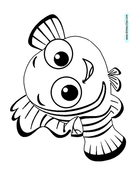 finding nemo coloring pages disneyclipscom