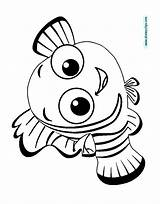 Nemo Finding Coloring Pages Disney Squirt Pixar Fish Disneyclips Template Drawing Getdrawings Funstuff sketch template