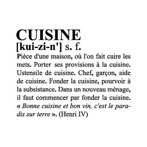 cuisine meaning définition cuisine décoration adhésive murale pour