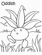 Coloring Oddish Pages Pokemon Getcolorings Printable Colorare Disegni Da sketch template