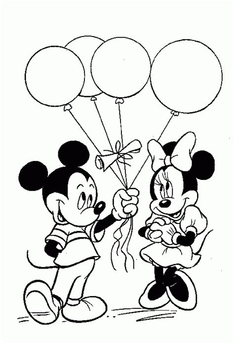 mickey mouse coloring birthday mickey mouse coloring pages only coloring pages