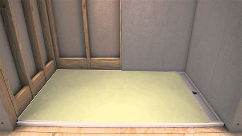 Putting In A Shower Pan by Laticrete 174 Hydro Ban 174 Linear Pre Sloped Shower Pan