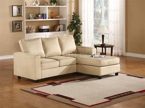 cream microfiber sectional sofa willa sectional sofa in microfiber by acme furniture 55919