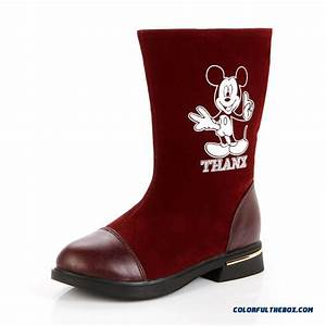 Cheap Girls Boots Princess In Big Kids Shoes Mickey Mouse
