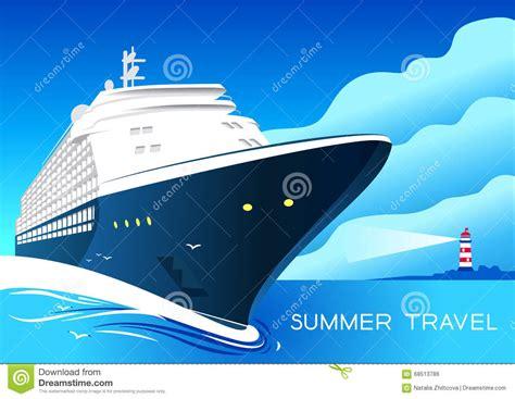 Art Deco Boat Poster summer travel cruise ship vintage art deco poster