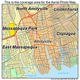 Aerial Photography Map of Amityville, NY New York