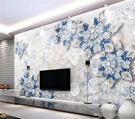 stereo crystal diamond jewelry flower tv wall