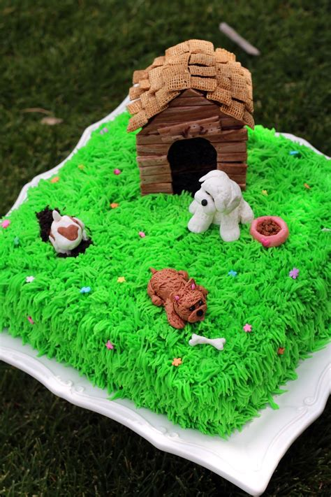 Worth Pinning Dog Cake With Doghouse Mini Cake And Gum