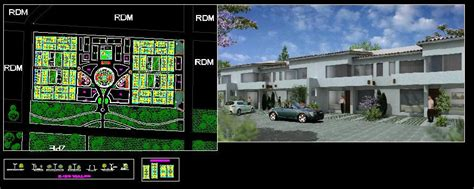 unit residential neighborhood  autocad cad  mb