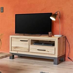 Meuble Tv Petit : petit meuble tv 1 porte forest en ch ne 100 massif ~ Teatrodelosmanantiales.com Idées de Décoration