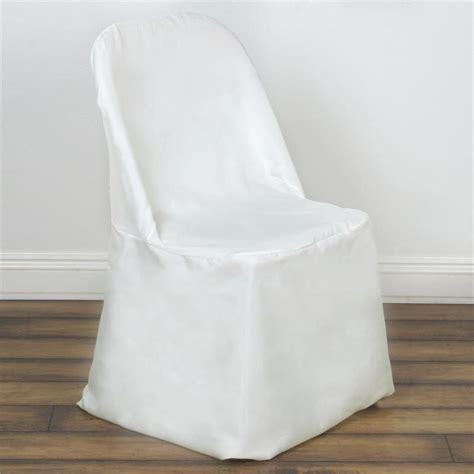 ivory folding chair cover flat efavormart