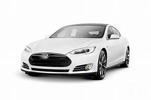 White Tesla Model S Luxury Electric Car Photograph by