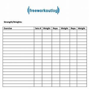 9 workout log templates sample templates With workout plan template pdf