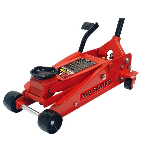 home depot house floor jacks big red 3 5 ton steel floor jack with foot pedal t83503 the home depot