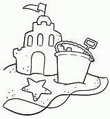 Sand Coloring Castle Beach Pages Shovel Bucket Printable Sandcastle Sheets Clipart Drawing Typical Sketch Colouring Clip Sheet Getcoloringpages Az Simple sketch template