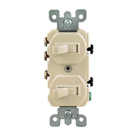 Leviton Amp Way Double Toggle Switch Ivory Iks