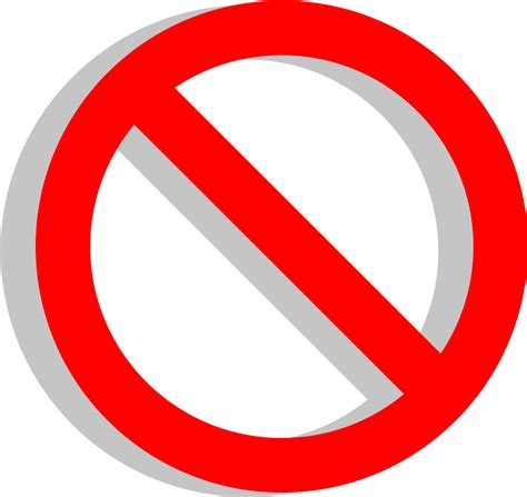 Download Clipart No Sign X Red Circle With Line With