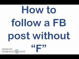 How to Follow a Post on Facebook - YouTube