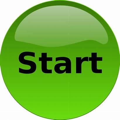 Start Button Clip Clipart Begin Icon Transparent